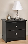 Black 2-drawer Night Stand By Prepac