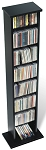 Black Slim Multimedia Storage Tower By Prepac