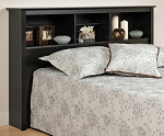 Black Headboard for Double or Queen Bed By Prepac