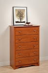 Cherry 5-drawer Chest By Prepac
