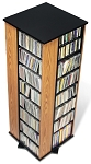 Oak with Black Bottom 4-sided Spinning Tower By Prepac