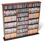 Cherry with Black Bottom Triple Width Wall Storage By Prepac