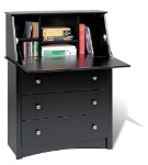 Black Secretary Desk By Prepac
