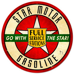 Star Motor Gasoline Vintage Metal Sign