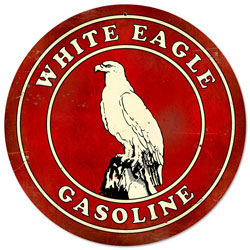 White Eagle Gasoline Vintage Metal Sign