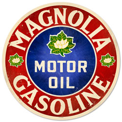 Magnolia Motor Oil Vintage Metal Sign