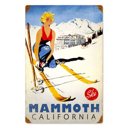 Ski Mammoth Vintage Metal Sign