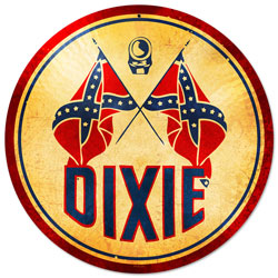 Dixie Gasoline Vintage Metal Sign