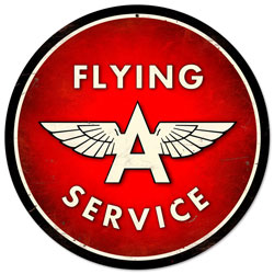 Flying A Service Vintage Metal Sign