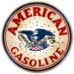 American Gasoline Vintage Metal Sign