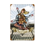 Mile High Pinup Vintage Metal Sign