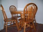 42 in. 5 pc. Oak Dining Set