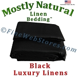 Super King Size Black Bed Linen Sheet Set 300 Thread Count