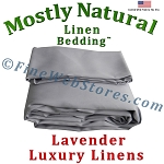 Queen Xl Size Lavender Bed Linen Sheet Set 300 Thread Count