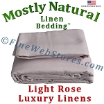 Super King Size Light Rose Bed Linen Sheet Set 300 Thread Count