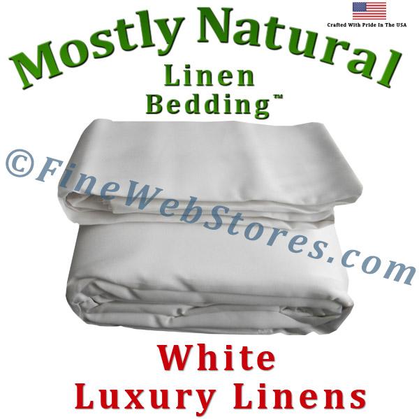 split king size white bed linen sheet set 300 thread count