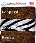Expanded Queen Size Zebra, Leopard Or African Sheet Sets 200 Thread Count