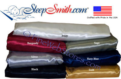 Adjustable Bed Size Satin Sheet Set Dual Super Extra Wide King Split 108 in. x 80 in.