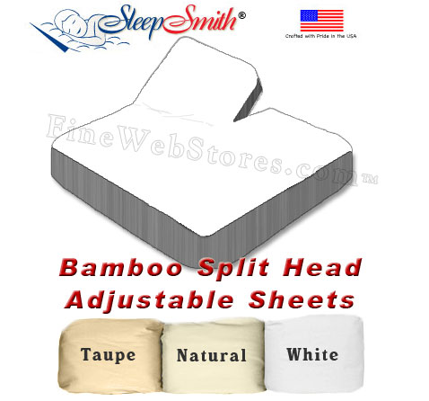 bamboo split head adjustable california king bed sheets 300 thread count