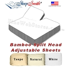 BAMBOO Queen Split Head Adjustable Sheets 300 Thread Count