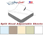 Fabulous 600 Thread Count Wrinkle Resistant Split Head Adjustable Sheets