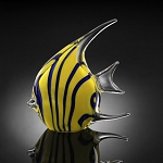 Yellow Angel Fish Art Glass