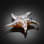 White Starfish Art Glass