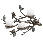 Bird And Branch Candle Holder Wall Decor