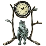 Mother And Baby Frog Clock