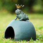Frog Prince Toad House Garden Sculpture