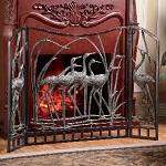 Crane Flock Fireplace Screen
