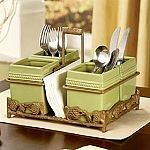 Silverware Caddy Pistachio