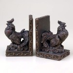 Country Rooster Bookends