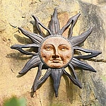 Sun Face Wall Plaque