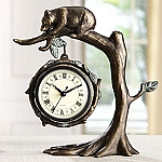 Bear On Tree Tabletop Clock