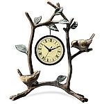 Lovebirds Clock
