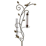 Bird Rain Gauge And Thermometer