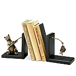 Fishing Cat Bookends