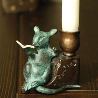 Reading Mouse Candle Holder