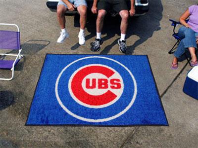 Large Chicago Cubs Logo Area Rug