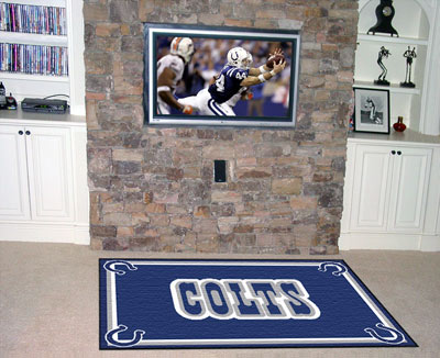 Indianapolis colts area rug for Colts bedroom ideas