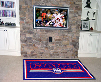 New york giants area rug for Area rugs new york