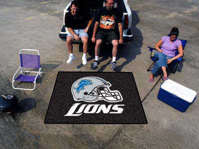 Large Detroit Lions Logo Area Rug