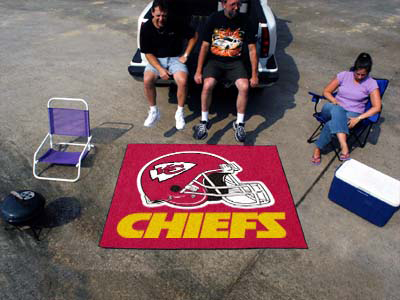 Large Kansas City Chiefs Logo Area Rug