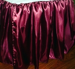 3/4 Three Quarter Burgundy Satin Dustruffle Bedskirt