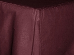 Baby Crib Dark Wine Tailored Dustruffle Bedskirt