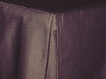 3/4 Three Quarter Eggplant Tailored Dustruffle Bedskirt