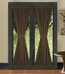 Brown French Door Curtains
