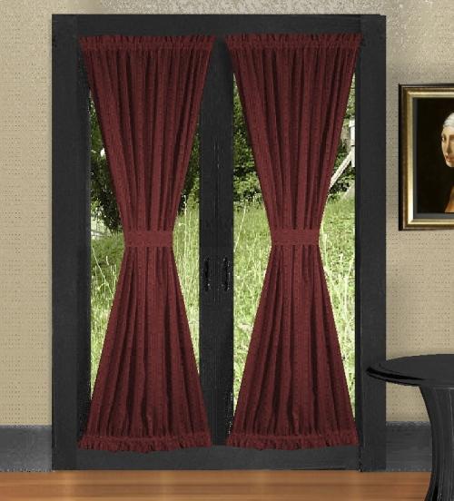 burgundy wine french door curtains