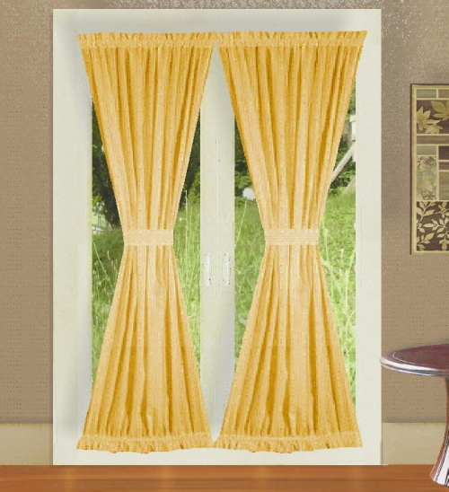 Gold French Door Curtains